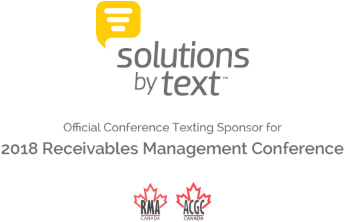Solutions by Text Official Conference Texting Sponsor for 2018 Receivables Management Conference